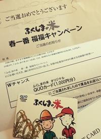 ふくしまの米 春一番 福福キャンペーン - mon livre diary