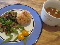 夏野菜とツナ炒め - お昼ご飯