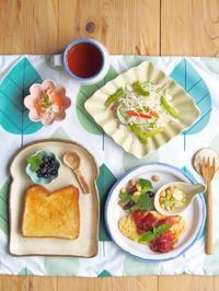 オムレツ朝ごはん - 陶器通販・益子焼 雑貨手作り陶器のサイトショップ 木のねのブログ