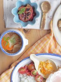 タコライスの朝ごはん - 陶器通販・益子焼 雑貨手作り陶器のサイトショップ 木のねのブログ