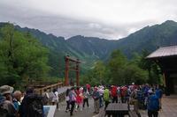 上高地から岳沢小屋(前穂登山) - 山の花、町の花