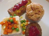 卵焼きと豆腐 - お昼ご飯