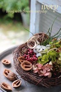 『〜IVORY 花教室 9 September 開催です〜♬』 -  Flower and cafe 花空間 ivory (アイボリー)