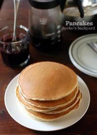 パンケーキ&ブルーベリーのコンポートソース - Kyoko's Backyard ~アメリカで田舎暮らし~