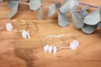 moon stone ring silver & brass / studio napas. - bambooforest blog