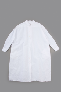 jujudhau  SHIRTS DRESS (LINEN COTTON WHITE) - un.regard.moderne