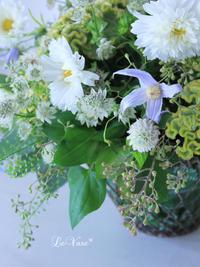 9月のレッスン始まりました♩ - Le vase*  diary 横浜元町の花教室