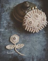お花のブローチ (10月レッスン) - bow