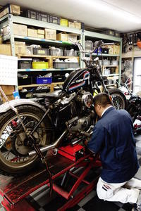 1975XLH1000 分解作業 - Vintage motorcycle study