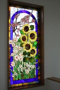 わたしの好きな作品から 四季のパネル - ステンドグラスルーチェの日常