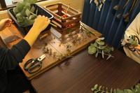 スワッグ作りのワークショップ 9.7 秋色 - 北赤羽花屋ソレイユの日々の花