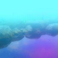 空と海が浸透する温泉 - 三恵 poem  art