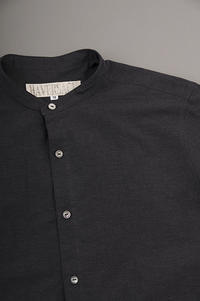 HAVERSACK  Typewriter Band Collar Pullover Shirt - un.regard.moderne