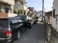 中野区から車検切れのパンク車をレッカー車で廃車の出張引き取りしました。 - 廃車戦隊引き取りレンジャー