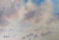 「雲」 水彩画 その4 & ? 兵衛のソース?? - ポッと出っスけど杉山ひとみ/水彩画ブログ