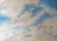 「雲」 水彩画 その5 & 若い頃も馬と - ポッと出っスけど杉山ひとみ/水彩画ブログ