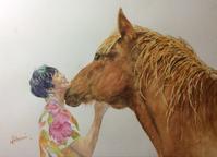 動物好きの妻が、赤ジソ酒 - ポッと出っスけど杉山ひとみ/水彩画ブログ