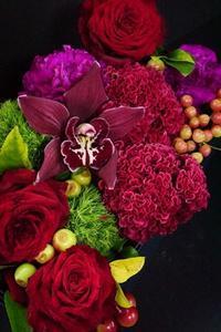 妖艶ボックスフラワー - お花に囲まれて