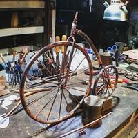 古い自転車 - Studio fu-mine Copper Works