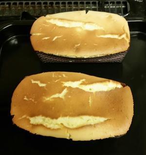 長男作チーズケーキ。 -