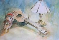 koujiさんの絵「ギターと人形」 - greensleeves.poplar