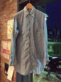 40's WW2 era U.S.N. chambray shirt - BUTTON UP clothing