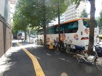 """中国の夏休みが終わり、バスは減ってきました(ツアーバス路駐台数調査 2017年9月) - ニッポンのインバウンド""""参与観察""""日誌"""