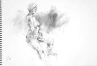 《 九月の素描  10 ・・・ 筆のように木炭を 》 - 画室『游』 croquis・drawing・dessin・sketch