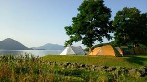 洞爺湖でキャンプ -