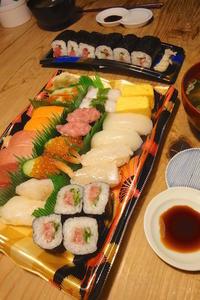 握り寿司 〜休日夜ごはん - 週末は晴れても、雨でも