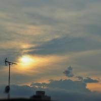 フツーの夕空(笑) - のーんびり hachisu 日記
