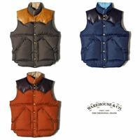 ROCKY MOUNTAIN×WAREHOUSE NYLON DOWN VEST - UNIQUE JEAN STORE American Casual Side