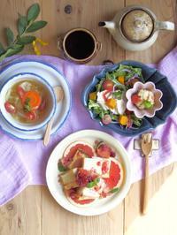 秋のりんごトースト。 - 陶器通販・益子焼 雑貨手作り陶器のサイトショップ 木のねのブログ