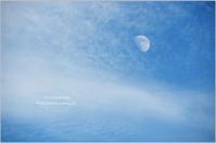 お月さまと秋の空 - It's only photo