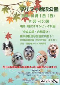 駒沢公園フリマのお知らせ(10月1日) - Holiday Bone