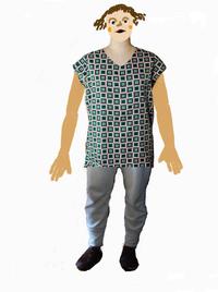 コラージュな着画 - 糸巻きパレットガーデン