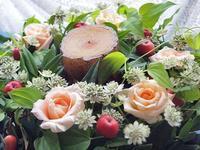 姫リンゴのリース - つれづれ日記