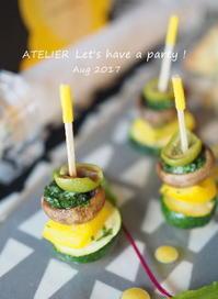ガーリックマッシュルーム~「8月のテーブルコーディネート&おもてなし料理レッスン」より - ATELIER Let's have a party ! (アトリエレッツハブアパーティー)         テーブルコーディネート&おもてなし料理教室