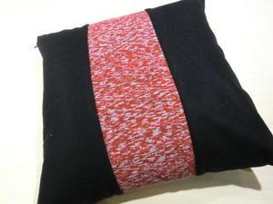 裂き織りラインのクッション - 織華の紗音