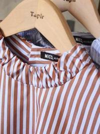 NICO. ストライププルオーバーシャツ - 【Tapir Diary】神戸のセレクトショップ『タピア』のブログです