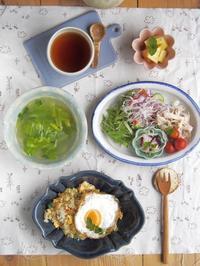 目玉焼き+チャーハン - 陶器通販・益子焼 雑貨手作り陶器のサイトショップ 木のねのブログ
