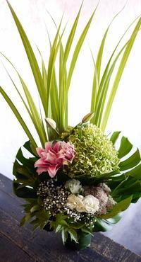 月命日に。江別市見晴台にお届け。2017/09/11。 - 札幌 花屋 meLL flowers