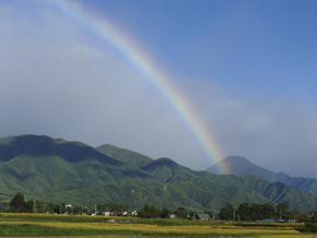 台風一過の早起きは - 安曇野時間