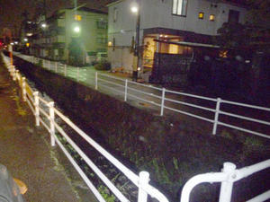 ごんじょ川の様子台風の影響 -