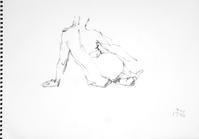 《 九月の素描  13 ・・・ ムービング その 1 》 - 画室『游』 croquis・drawing・dessin・sketch
