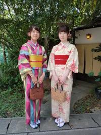 違ったタイプ、共に人気のレトロなお着物。 - 京都嵐山 着物レンタル&着付け「遊月」