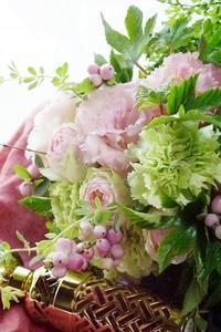 アイロニー花de母子レッスン♪&松茸日和ランチ - お花に囲まれて