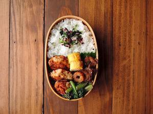 9/19(火)鶏塩つくね弁当 - おひとりさまの食卓plus
