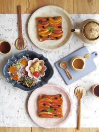 焦がしキャラメル煮りんごのトースト - 陶器通販・益子焼 雑貨手作り陶器のサイトショップ 木のねのブログ