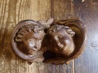 木彫りケルビム 2匹の天使     /728 - Glicinia 古道具店